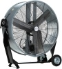 "Airmaster BDMC36C 36"" Belt Drive Portable Mancooler Drum Fan. 115V, 1 phase, 2 speed, ODP, 1/2 HP motor, 36"" diameter three bladed aluminum propeller, Tiltable, 2 speed rocker switch, 10' cord with three prong plug"