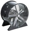Airmaster Direct Drive Low Stand Model Air Blaster Fan. Non-tipping heavy base, Welded steel construction, Portable or stationary mount, 115/230V & 230/460V