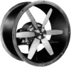 Airmaster Direct Drive Tube Axial - Model PLDA. Fan easily mounts in round ducts, Ball bearing, standard NEMA frame motors, Spark resistant cast aluminum propellers