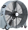 Airmaster MC42OS Belt Drive Portable Mancooler Drum Fan. 115V, 1 phase, 2 speed, ODP 1 HP motor, 2 speed rocker switch, Steel hubbed wheels with locking casters, SJT 10' cord with three prong plug