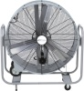 "Airmaster MC42 / MC48 Swivel Mount 42"" or 48"" Belt Drive Portable Mancooler Drum. 115V, 1 phase, 1 speed, Tiltable, locks in place, 4"" steel wheels with rubber tires, 12' three conductor and switch"