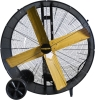 "Drum Fans. Portable 24-48"" Belt or Direct Drive Drum Blowers With Fixed or Swivel Base Design"