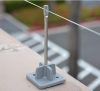 Bird-X Bird Wire. Stainless Steel Wire & Posts. Creates an uneven landing surface making it difficult for birds to perch