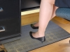 HOT-flakes Electric Indoor Heated Foot Warmer Rubber Mats with thermostat. Residential or commercial