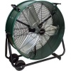 "King Electric High Velocity Drum Fans. 24-48"" Belt or Direct Drive Drum Fans With Fixed or Swivel Base Design"