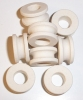 Ceramic & Porcelain Pass Through Insulators & Bushings & Spacers. Grooved, Ribbed, Steatite, Cordierite
